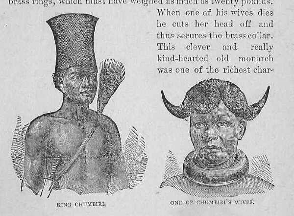 King Chumbiri and wife - Stanley's Travels